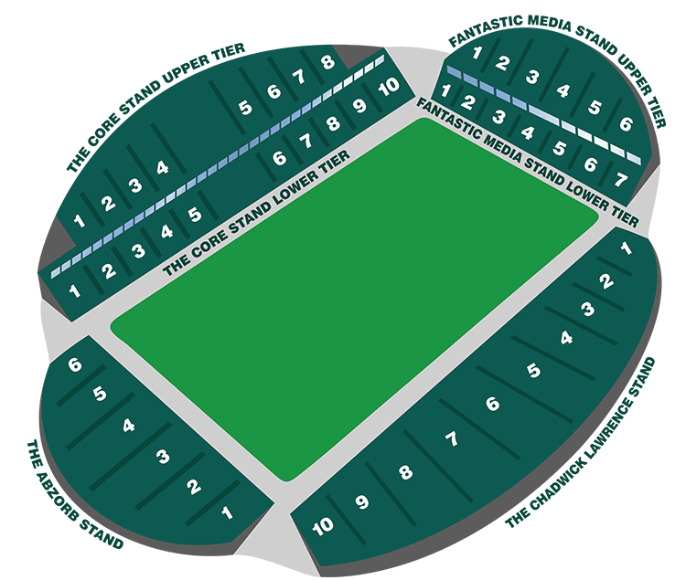 John Smith's Stadium - Stadium map